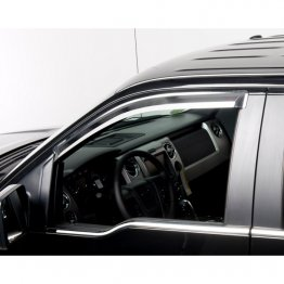 Putco Element Window Visors - Chrome - 480153